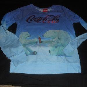 Cocoa Cola Coke Blue Polar Bear Shirt